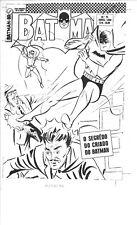 1959 BATMAN # 74 ? BRAZILIAN COVER ACETATE PRODUCTION ART RETRO EBAL PRODUCTIONS