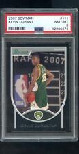 2007-08 Bowman #111 Kevin Durant ROOKIE RC PSA 8 Graded NBA Basketball Card