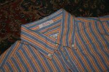 Gant Rugger Hugger Old Loom Oxford Cotton Stripe Button Down Shirt Medium M
