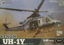"1/48 Bell UH-1Y Venom ""HUEY""  Model Kit by Kitty Hawk Models"