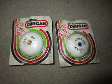(2 )  VINTAGE  DUNCAN JEWEL YOYO/ white with  middle jewel stone ORIGINAL PACK