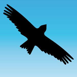 Warning Bird Sticker 30cm Black Milan Bird Shock Window Protection Deco Foil