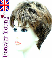 Ladies Short Wigs Boycut Style Brown Blonde Wig Forever Young Wigs
