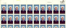 # 2137 Us Postage Stamps Plate Block Mary B Ethune 20 Stamps