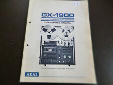 Original Bedienungsanleitung Akai GX-1900
