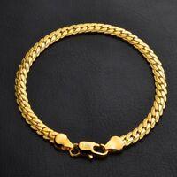 Men Women Jewelry Bangle Chain Bracelet Silver Gold Cuff Charm Fashion Jewelry