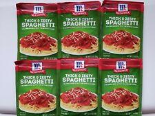 (6 Pack) McCormick Thick & Zesty Spaghetti Sauce Mix, 1.37oz, expiration 01/2023