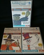 Anita Goodesign Embroidery Collections Designs 3 CD lot danglers halloween