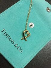 Tiffany & Co. PALOMA PICASSO® Loving Heart Pendant 18k Yellow 40cm Chain RRP£580