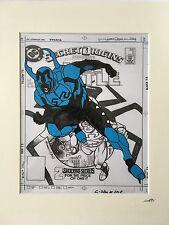 Blue Beetle - DC Comics - Hand Drawn & Hand Painted Cel