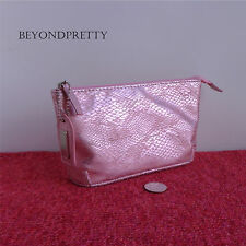 "Mally Beauty Zippered Cosmetic Makeup Bag Pouch in Pink - 7"" x 4"" x 1.5"""