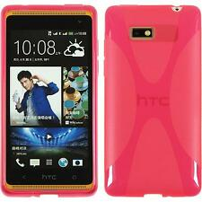 Silicone Case HTC Desire 600 X-Style hot pink + protective foils