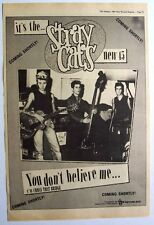 STRAY CATS 1981 original POSTER ADVERT YOU DON'T BELIEVE ME brian setzer