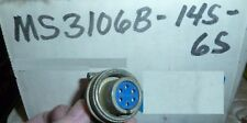 AMPHENOL MS3106B-14S-6S  connector 6 pin Military Spec NOS