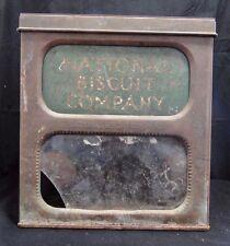 ANCIENNE BOITE A BISCUITS NATIONAL BISCUIT COMPANY 1910 EN TOLE ET VERRE (GW24)