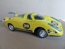 377D Vintage Toy IN Sheet Metal Bandai Japan Porsche 917 Yellow L 9 13/16in