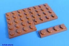 LEGO nr-4211190 / 1x4 Losa Placa Marrón / 10-pc