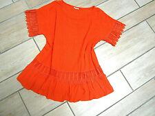 ?Traum Shirt, Bluse, Tunika Gr.42 44 Orange mit Spitze, NEU