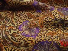 (34,99€/1m) Burda Style, Viskose, Blumenmuster, Braun, Violett