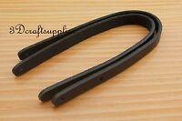 purse handle Genuine Leather purse handles for Bag 30 cm black CK10A