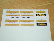 Gold ARENA Ice Skating Advert decals for Halling Blackpool Flexity Tram 006