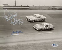 RICHARD PETTY JANET GUTHRIE DUAL SIGNED AUTOGRAPHED 8x10 PHOTO RARE BECKETT BAS