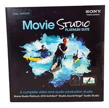 Sony Movie Studio Platinum Suite 12 DVD Complete Video & Audio Production Studio