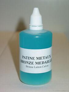 BRUNISSEUR PATINE POUR MÉTAUX 100 ml.  patine brunisseur métaux permet de teinte