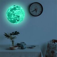 STICKER MURAL LUNE FLUORESCENTE POSTER AUTOCOLLANT LUMINEUX DECORATION CHAMBRE