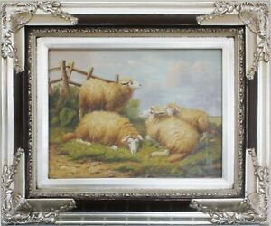Sheep, Oil painting on wood, With/Without frame, Reproduction Artwork 2/2