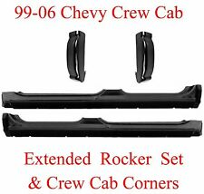 99 06 4Pc Extended Crew Cab Rockers & Crew Cab Corners, Chevy GMC Truck, 1.2MM