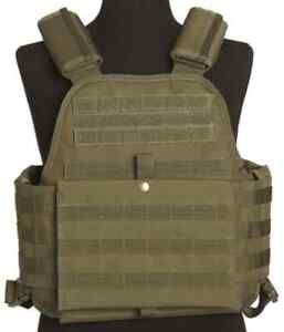 Molle Plate Carrier Weste oliv, Paintball, MagFed, Softair, Airsoft