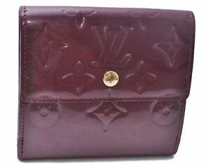 Authentic Louis Vuitton Vernis Portefeuille Elise Wallet Purple LV D6323