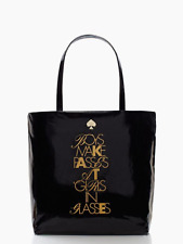 Kate Spade Bag Required Reading Bon Shopper PXRU4507 New With Tag Black