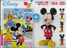 Disney Puzzle Mickey Mouse 104 Teile, 23,5 x 33,5cm + 3D-Modell - Clementoni