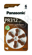 Hörgeräte-Batterien Panasonic (60 Stück) PR 312 Passend für Hörgerät: Hansaton