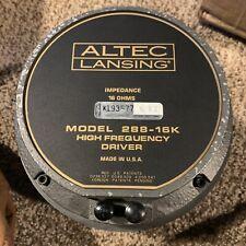 #2 Altec Lansing 288-16k Compression Driver Tube Horn Midrange High Frequency