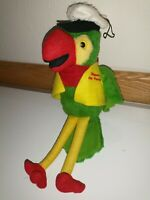 VTG Skippers Seafood N Chowder House Parrot Plush Rare Advertising Doll Stuffed