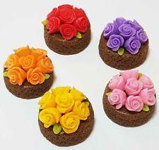 5 Dollhouse Miniature Assorted Cakes * Doll Mini Food Tart Pie Wedding Dessert