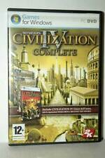 CIVILIZATION IV COMPLETE EDITION USATO OTTIMO PC DVD VERSIONE ITALIANA RS2 43473