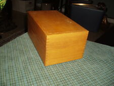 1967 ARTIST PETERS WOOD PRODUCTS DOVETAILED OAK WOOD FILE BOXW/ Dividers VG !