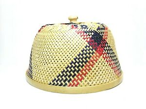 "12"" Bamboo Food Cover / Lampshade Wickerwork Handcraft Thai Handmade Craft Decor"