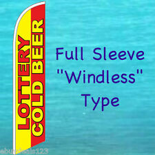 LOTTERY COLD BEER WINDLESS FEATHER FLAG Tall Advertising Swooper Flutter Banner