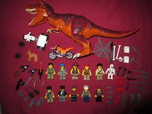LEGO Dinosaur DINO ,Minifigure Lot T-REX,Minifigures,Weapons Extras