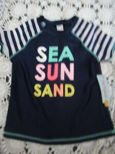 NWT Cat + Jack Sea Sun sand rash guard swim top boys or girls 10 12