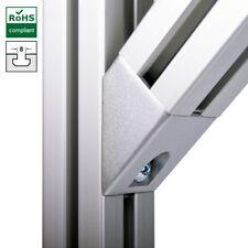 Winkelverbinder 45° Grad für Aluprofil 40x40 Nut 8 item komp.,Verbindungstechnik
