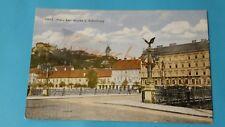 alte AK Graz - Franz Karl Brücke und Schloßberg - Litho - ungelaufen