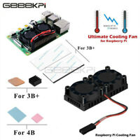 GeeekPi Raspberry Pi 4 Dual Fan Heatsink with Double Cooling Fans for Pi 4B/3B+
