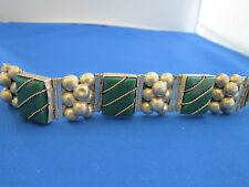 Link Chrysoprase Bracelet Sterling Silver Hinged