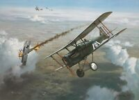 """""""First Victory"""" Roy Grinnell Aviation Print co-signed by WW I Ace George Vaughn"""